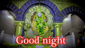 Sai Baba Good Night Wallpaper Pics Pictures Photo HD